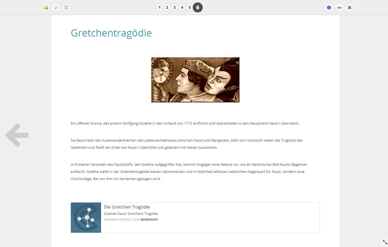 Seitenansicht online Notiz Faust
